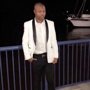 White Blazer with Black details